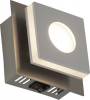 Brilliant Transit G67410/21 LED-Wandleuchte 4W EEK: LED (A++ - E) Warm-Weiß Nickel, Aluminium