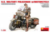 U.S.Millitary Policeman with Motorcycle