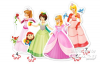 Pretty Princesses, 4x Puzzle (4+5+6+7)Te