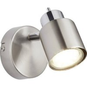 Brilliant Andres 74510/77 Wandstrahler GU10 42W LED Nickel, Chrom