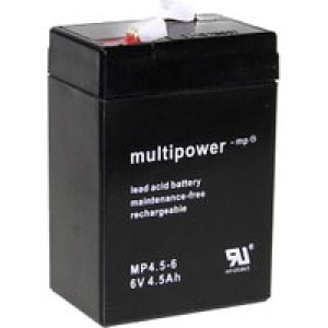 Multipower PB-6-4,5-4,8 MP4,5-6 Bleiakku 6V 4.5Ah Blei-Vlies (AGM) (B x H x T) 70 x 105 x 47mm Flach