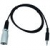 Eurolite DMX-Adapter IN DMX Adapter [1x Klinkenstecker 3.5mm - 1x XLR-Stecker] 1.00m
