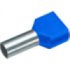 Cimco 18 2444 Zwillings-Aderendhülse 2 x 2.50mm² x 10mm Teilisoliert Blau 100St.