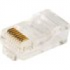 LogiLink RJ45-Modularstecker CAT 5e Stecker, gerade Pole: 8P8C Transparent MP0002 100St.