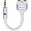 Oehlbach i-Connect J-AD Klinke Audio Y-Adapter [1x Klinkenstecker 3.5mm - 2x Klinkenbuchse 3.5 mm] W