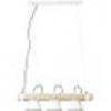 Brilliant Plow 82173/05 Pendelleuchte LED E27 30W Weiß, Holz (hell)