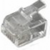 MH Connectors RJ11-Modularstecker Stecker, gerade Pole: 6P4C MHRJ126P4CR Transparent 6510-0104-03