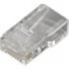 MH Connectors RJ45-Modularstecker Stecker, gerade Pole: 8P8C MHRJ458P8CR Transparent 6510-0104-01