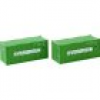 Rokuhan 7297550 Z 2er-Set 20´ Container Evergreen
