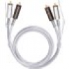 Oehlbach Cinch Audio Anschlusskabel [2x Cinch-Stecker - 2x Cinch-Stecker] 0.50m Transparent vergolde