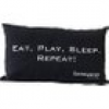 GAMEWAREZ  EAT, PLAY, SLEEP. REPEAT!  Kissen Schwarz