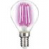 LightMe LED EEK A (A++ - E) E14 Tropfenform 4W Pink (Ø x L) 45mm x 78mm Filament 1St.