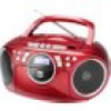 Dual P 70 CD-Radio UKW AUX, CD, Kassette Rot