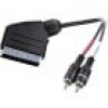SpeaKa Professional SCART / Cinch Audio Anschlusskabel [1x SCART-Stecker - 2x Cinch-Stecker] 2.00m S